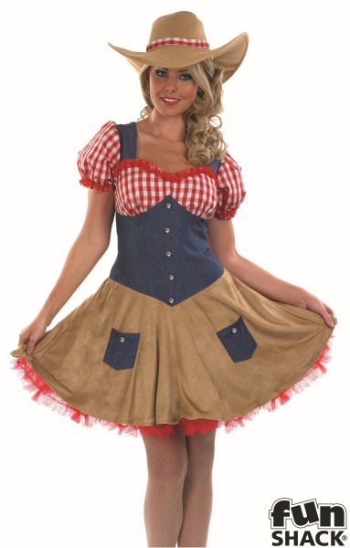 Sexy Cowgirl Fancy Dress Costume Thumbnail 1