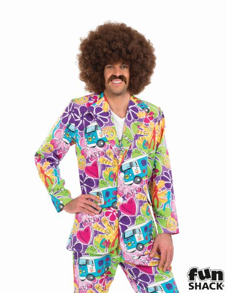 Pyschedelic Suit Fancy Dress Costume