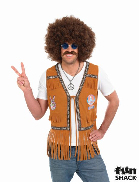 Hippie Fringed  Waistcoat Fancy Dress Thumbnail 1