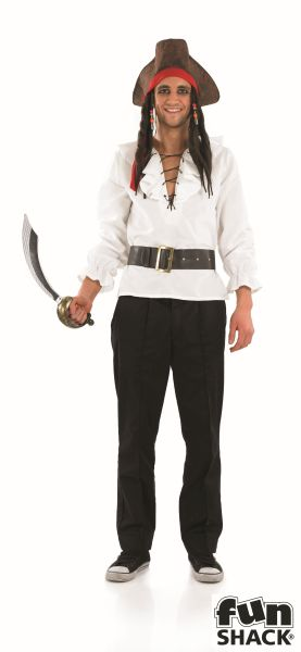 White Pirate Shirt and Belt  Thumbnail 1