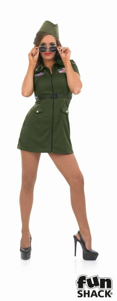 Aviator Girl Fancy Dress Costume Thumbnail 2