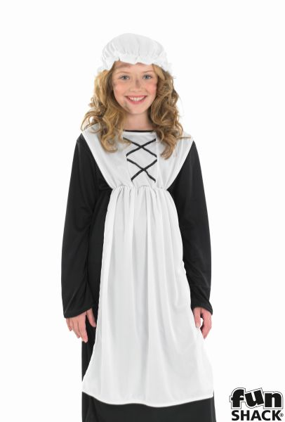 SALE Kids Victorian House Maid Girls Book Week Fancy Dress Childs Costume Outfit Thumbnail 1