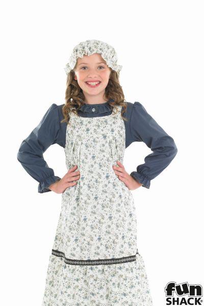 Victorian School Girl Fancy Dress Costume Thumbnail 1