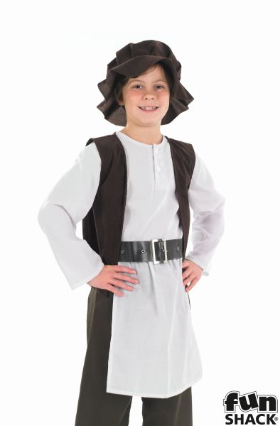 SALE! Kids Medieval Tudor Boy Boys Book Week Fancy Dress Childs Costume Outfit Thumbnail 1
