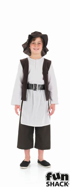 SALE! Kids Medieval Tudor Boy Boys Book Week Fancy Dress Childs Costume Outfit Thumbnail 2