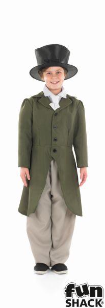SALE! Kids Victorian Regency Boy Twist Boys Book Week Fancy Dress Childs Costume Thumbnail 2