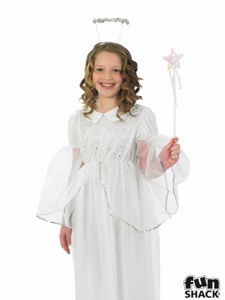 Girls Angelic Angel Fancy Dress Costume  Thumbnail 1