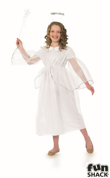 Girls Angelic Angel Fancy Dress Costume  Thumbnail 2