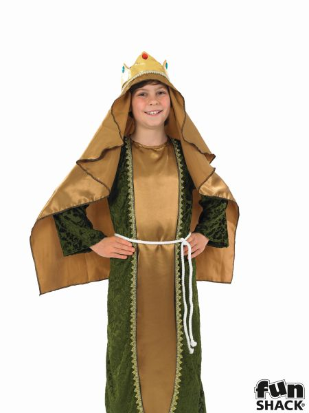 Gold Wise Man Fancy Dress Costume Thumbnail 1
