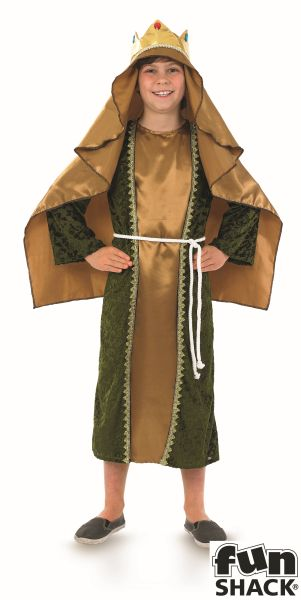 Gold Wise Man Fancy Dress Costume Thumbnail 2