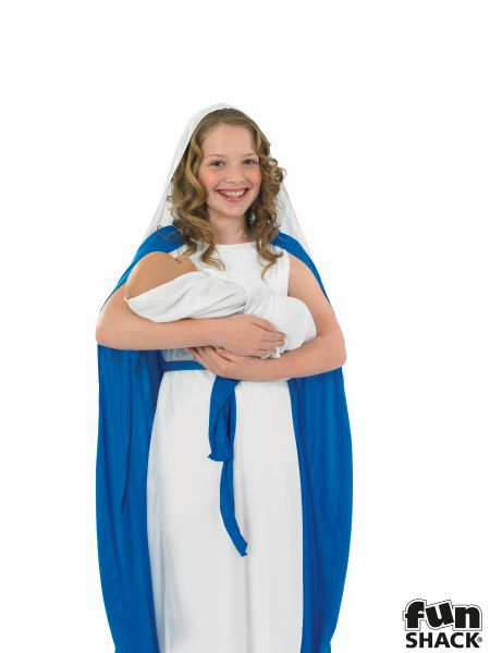 Childs Mary Fancy Dress Costume Thumbnail 1