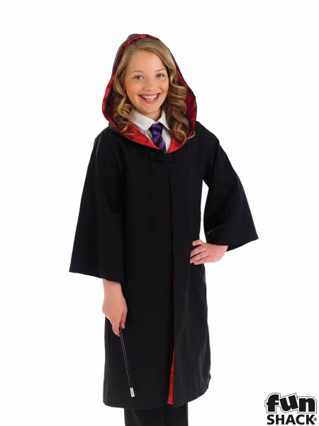 Childs Wizard Cape and Wand Fancy Dress Costume Thumbnail 3