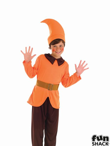 Orange Dwarf Fancy Dress Costume Thumbnail 1