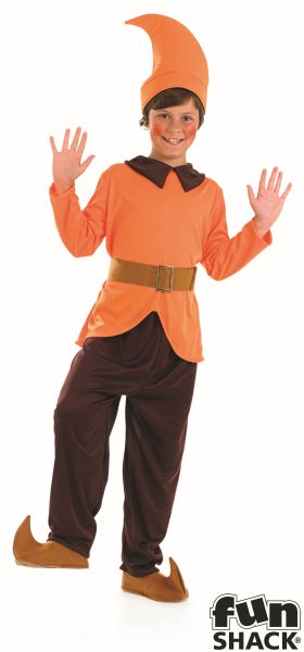 Orange Dwarf Fancy Dress Costume Thumbnail 2