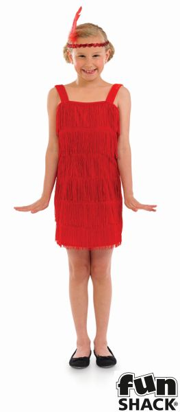 Red Flapper Fancy Dress Costume Thumbnail 2