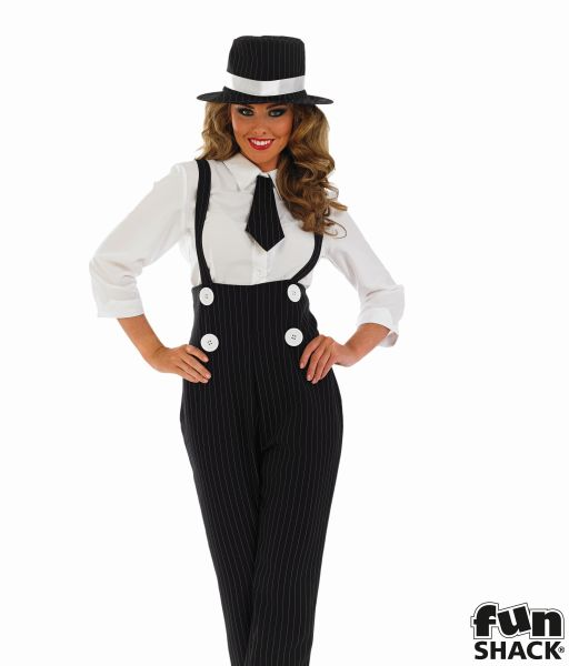 Sexy Gangster Fancy Dress Costume Thumbnail 1