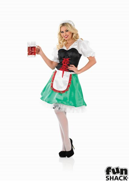 Sexy Bavarian Girl Fancy Dress Costume Thumbnail 2