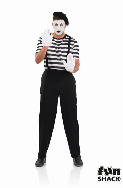 Mime Artist Fancy Dress Costume Thumbnail 2