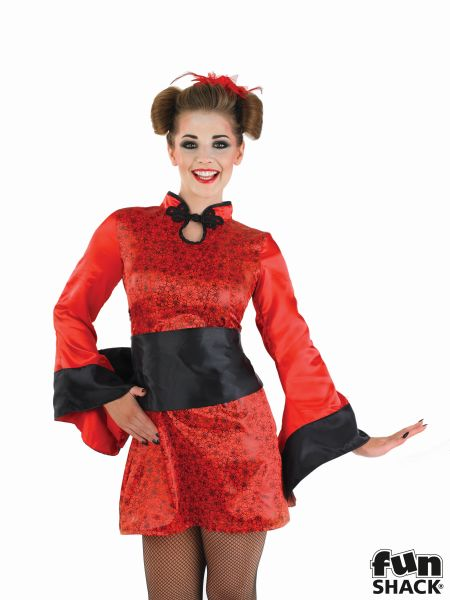 Geisha Girl Fancy Dress Costume Thumbnail 1