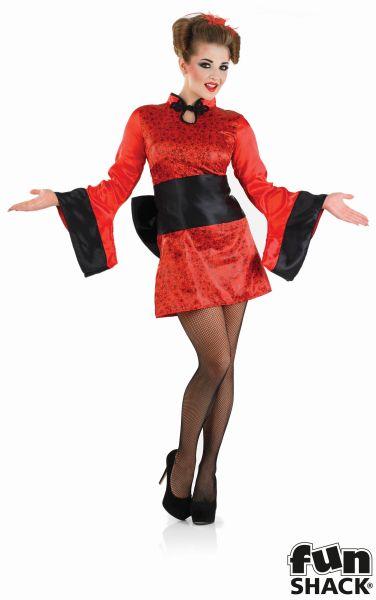 Geisha Girl Fancy Dress Costume Thumbnail 2