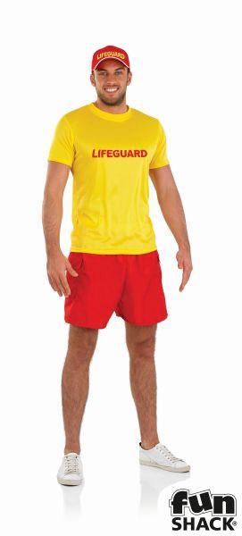 Male Lifeguard Fancy Dress Costume Thumbnail 2