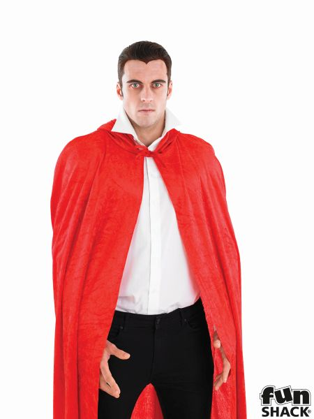 Red Velour Hooded Cape Thumbnail 3