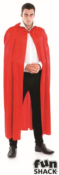 Red Velour Hooded Cape Thumbnail 4