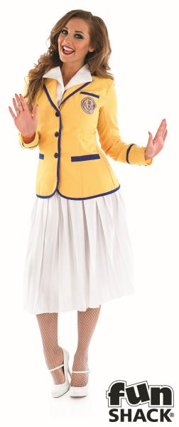 Adult 80s Hi De Hi Female Yellow Coat Costume Ladies Womens Fancy Dress 8 - 30 Thumbnail 2