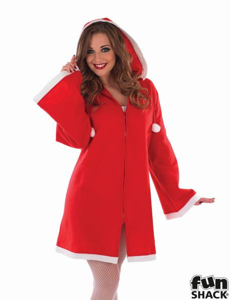 Sexy Little Miss Santa Ladies Christmas Party Fancy Dress Costume Outfit Thumbnail 1