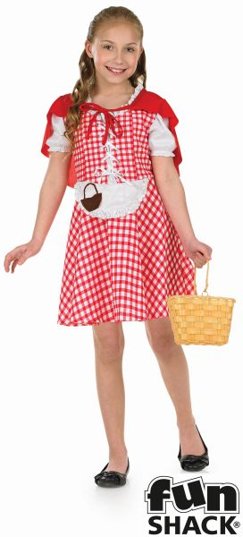 Kids Little Red Riding Hood Girls Book Week Fancy Dress Childs Costume Outfit Thumbnail 2