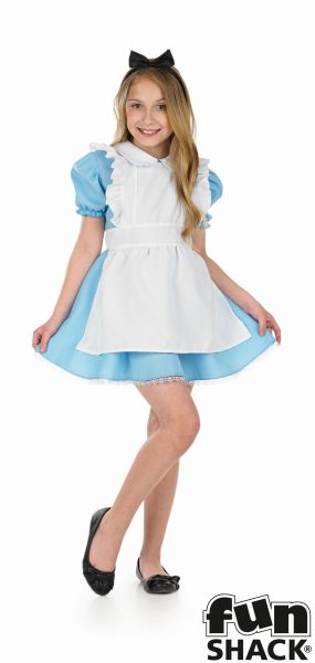 Girls Traditional Alice Fancy Dress Costume  Thumbnail 2