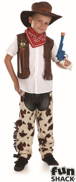SALE! Kids Wild West Cowboy Boys Book Week Fancy Dress Childs Costume Outfit Thumbnail 2
