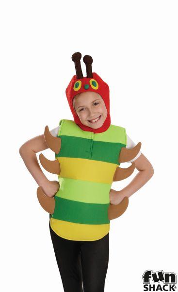 Boys Girls Caterpillar Costume Kids Hungry School Book Week Fancy Dress Story  Thumbnail 1