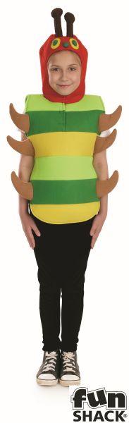 Boys Girls Caterpillar Costume Kids Hungry School Book Week Fancy Dress Story  Thumbnail 2