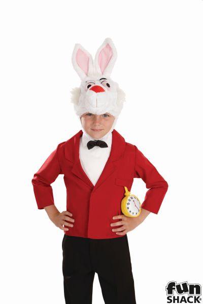 Boys Rabbit Costume Kids Alice Wonderland School Book Week Story Fancy Dress Thumbnail 1