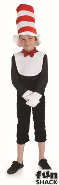 """Mr Tom """"Cat in the Hat"""" Style BookWeek Boys and Girls Fancy Dress Costume Thumbnail 2"""