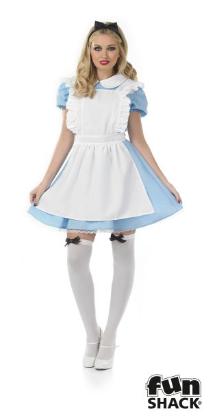 Women's Traditional Alice Fancy Dres Costume  Thumbnail 2
