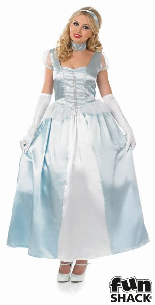 Cinderella Princess Womens Costume Ladies Fancy Dress Outfit Fairytale Story  Thumbnail 2