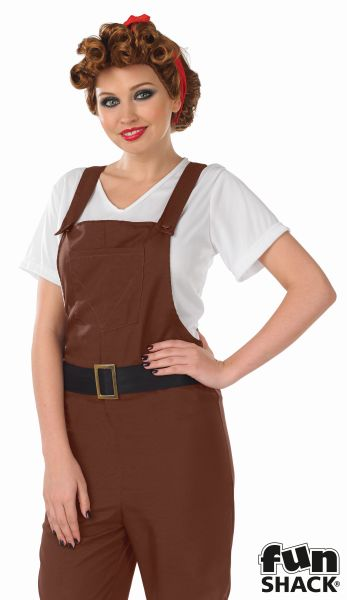 Land Girl Fancy Dress Costume Thumbnail 1