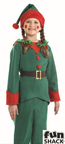 Kids Elf Fancy Dress Costume Thumbnail 3