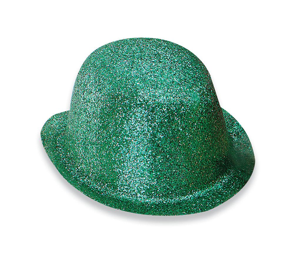 Glitter Green Plastic Bowler