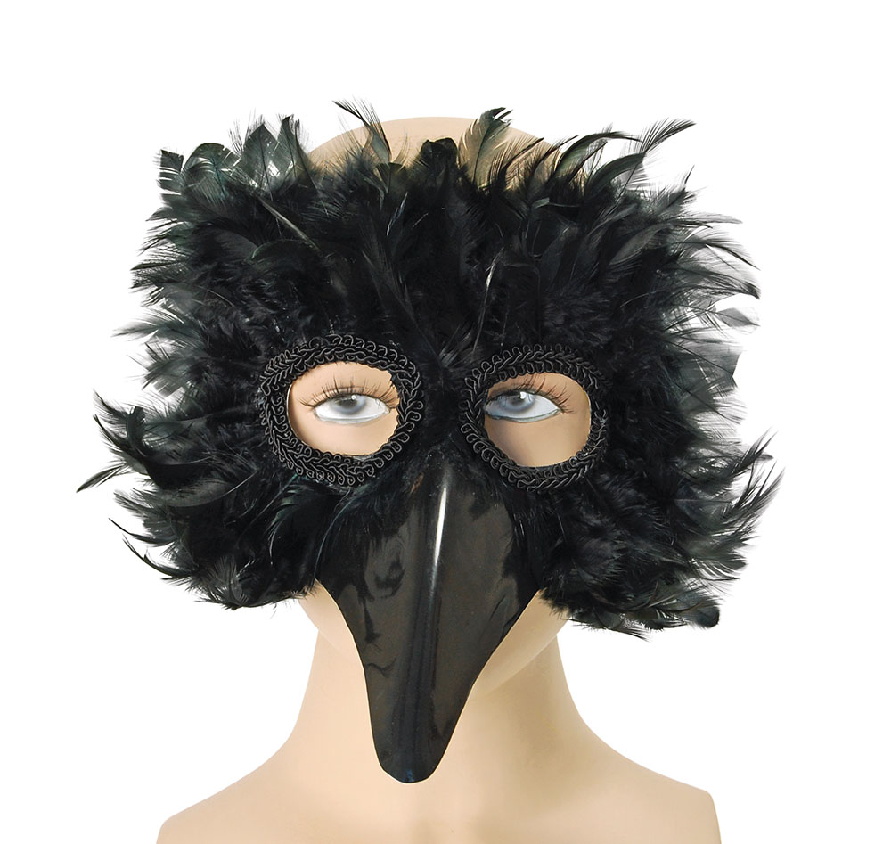 Black Bird Feather Eye Mask