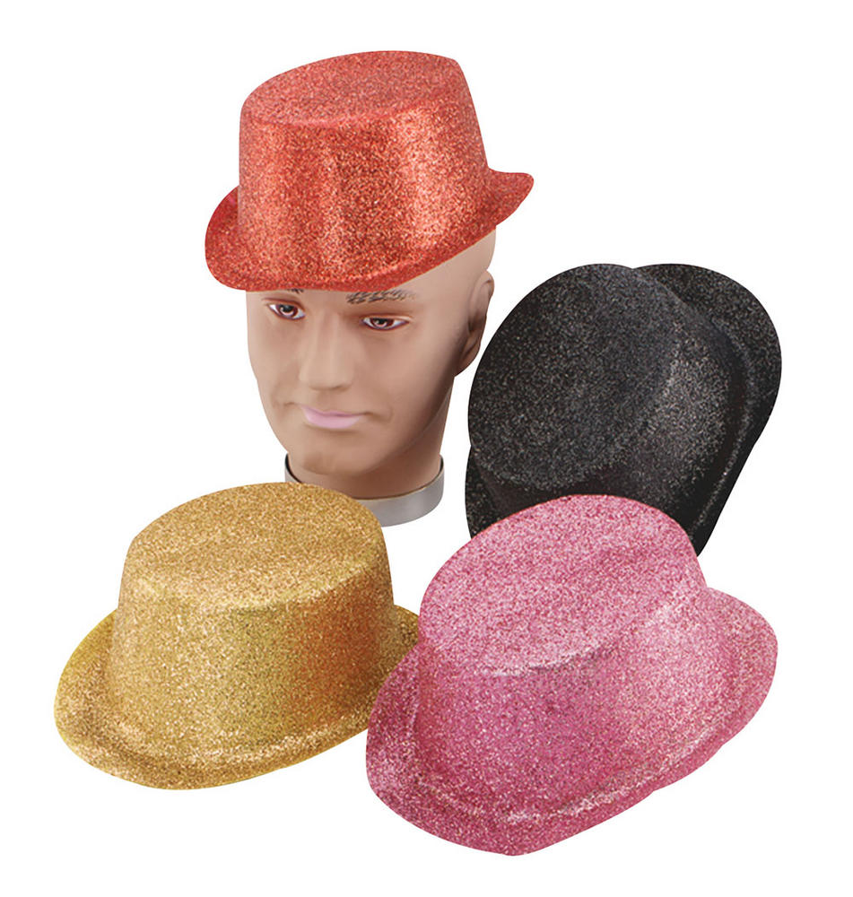 Glitter Red Toppers, Plastic
