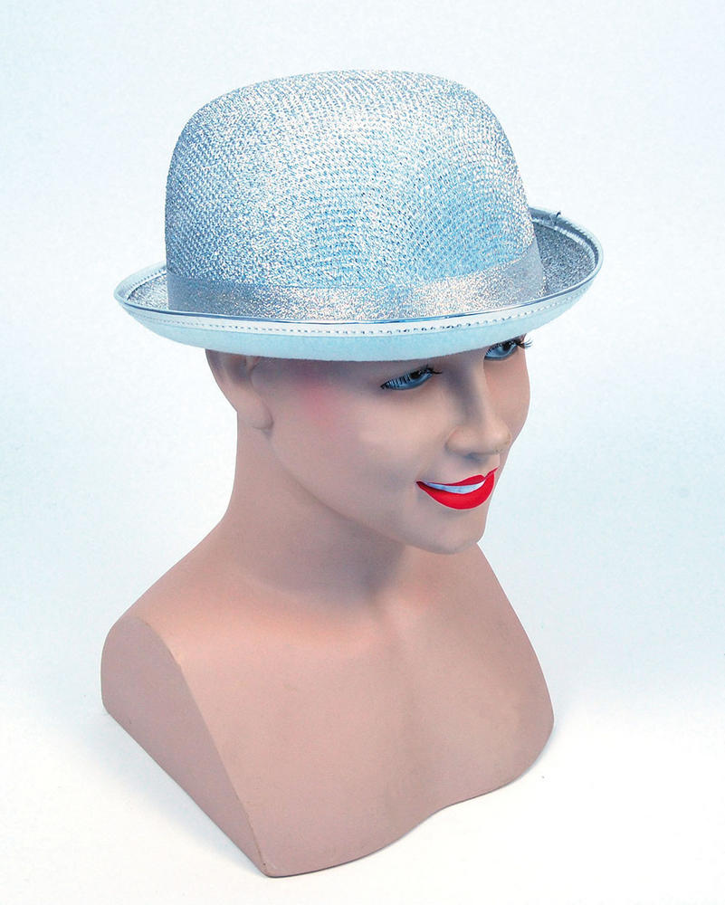 Bowler Hat Silver Lurex