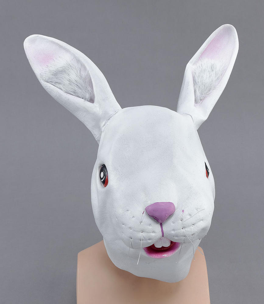 White Rabbit Rubber Overhead Mask
