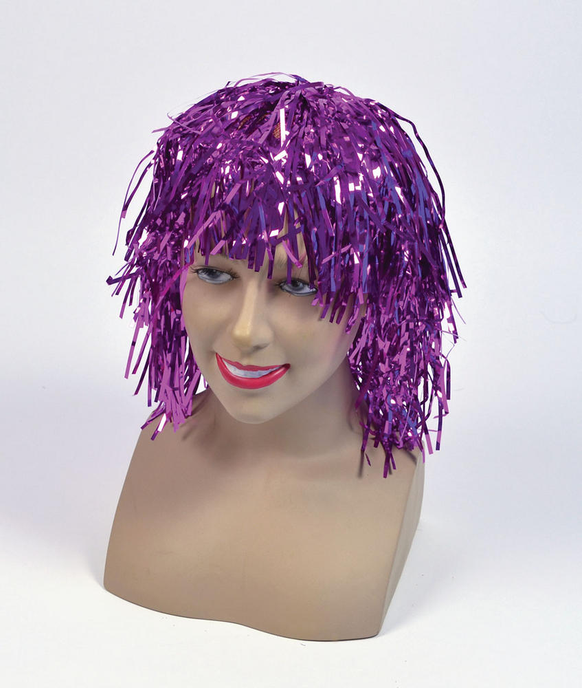 Tinsel Wig.  Cerise