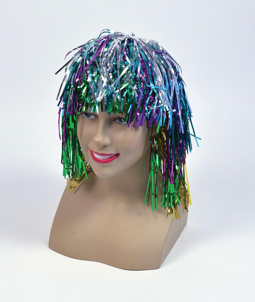 Tinsel Wig.  Multi