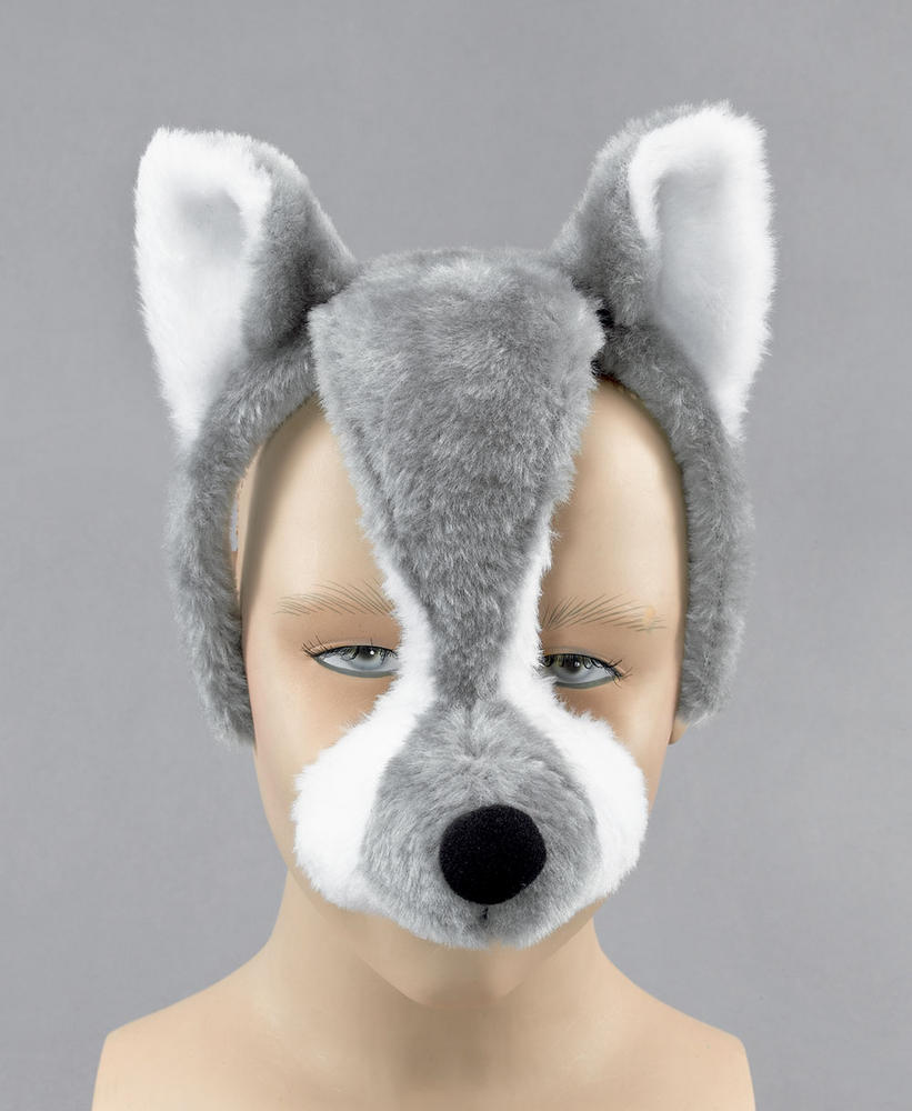 Wolf Mask On Headband with Sound
