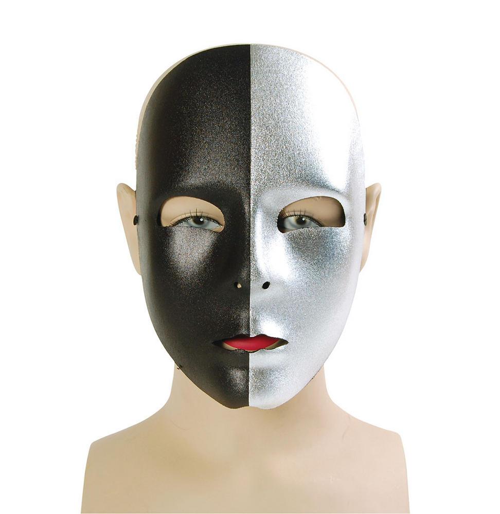 Silver/Black Face Mask