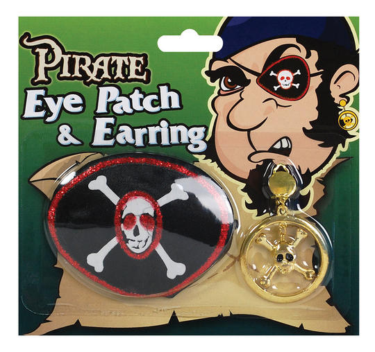 Pirate Eyepatch & Large Ear Ring Thumbnail 1